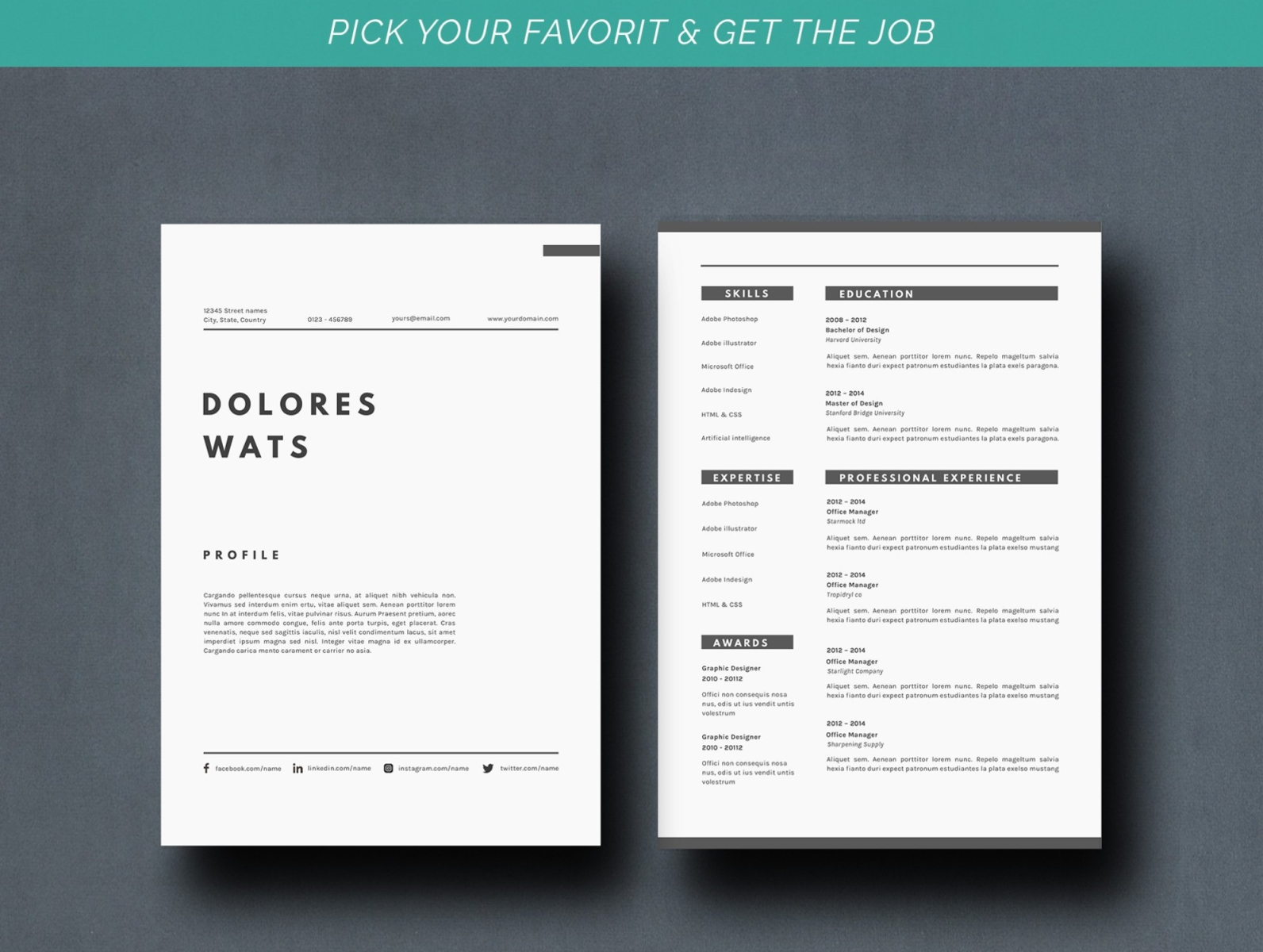 Resume Template Vw By Resume Templates On Dribbble