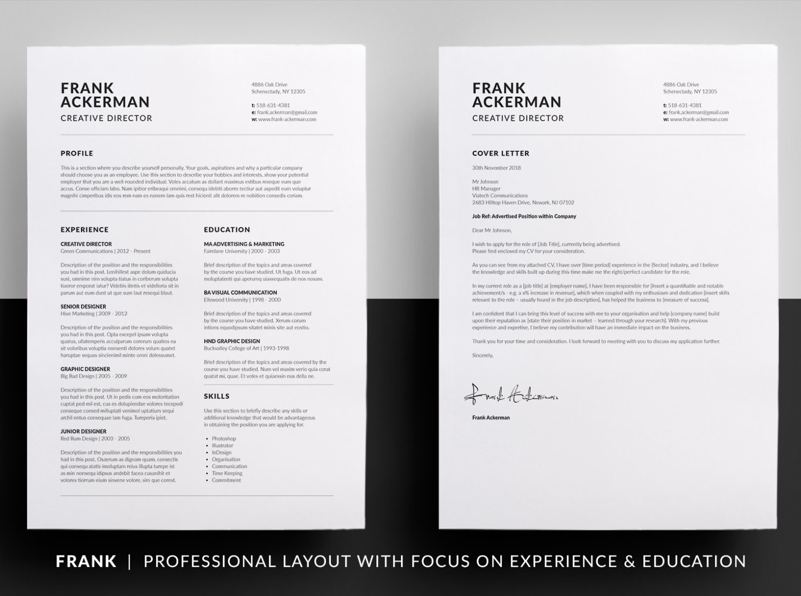 Essential Resume Frank By Resume Templates On Dribbble