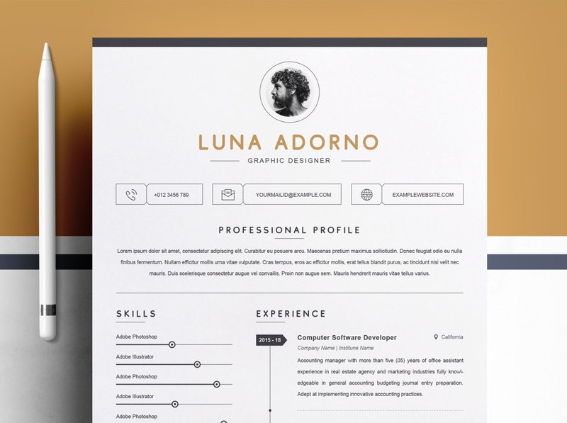 Clean Resume Template / Professional CV Design Template