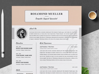 Resume Template / CV Design Template | MS Word | Apple apple pages resume for pages free download apple curriculum vitae template clean resume creative resume professional modern resume cv template modern resume resume template work