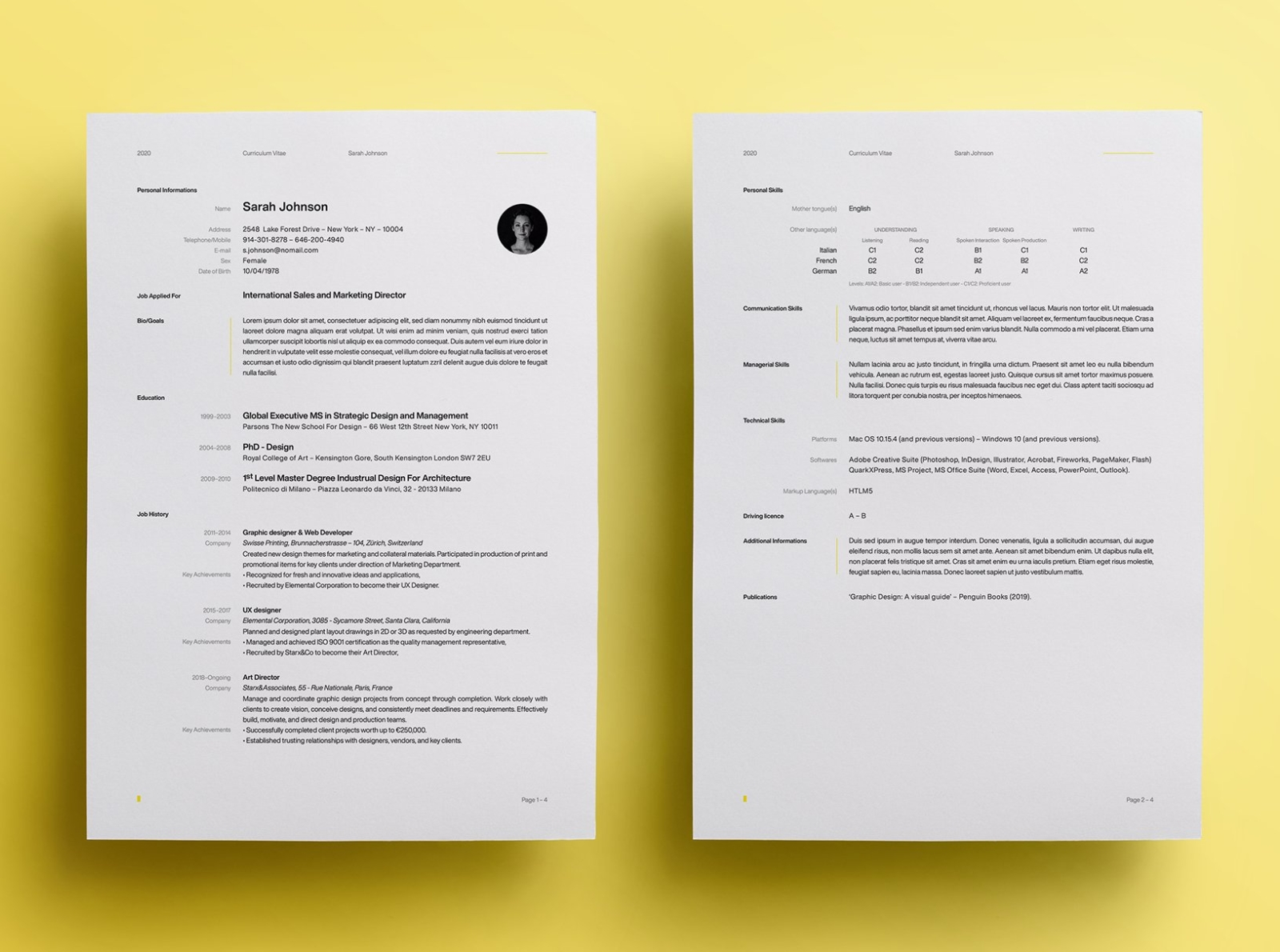 Pro Resume Template By Resume Templates On Dribbble
