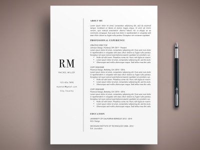 Modern CV Resume Template Word/Pages free download modernism curriculum vitae template clean resume creative resume professional modern resume cv template modern resume resume template