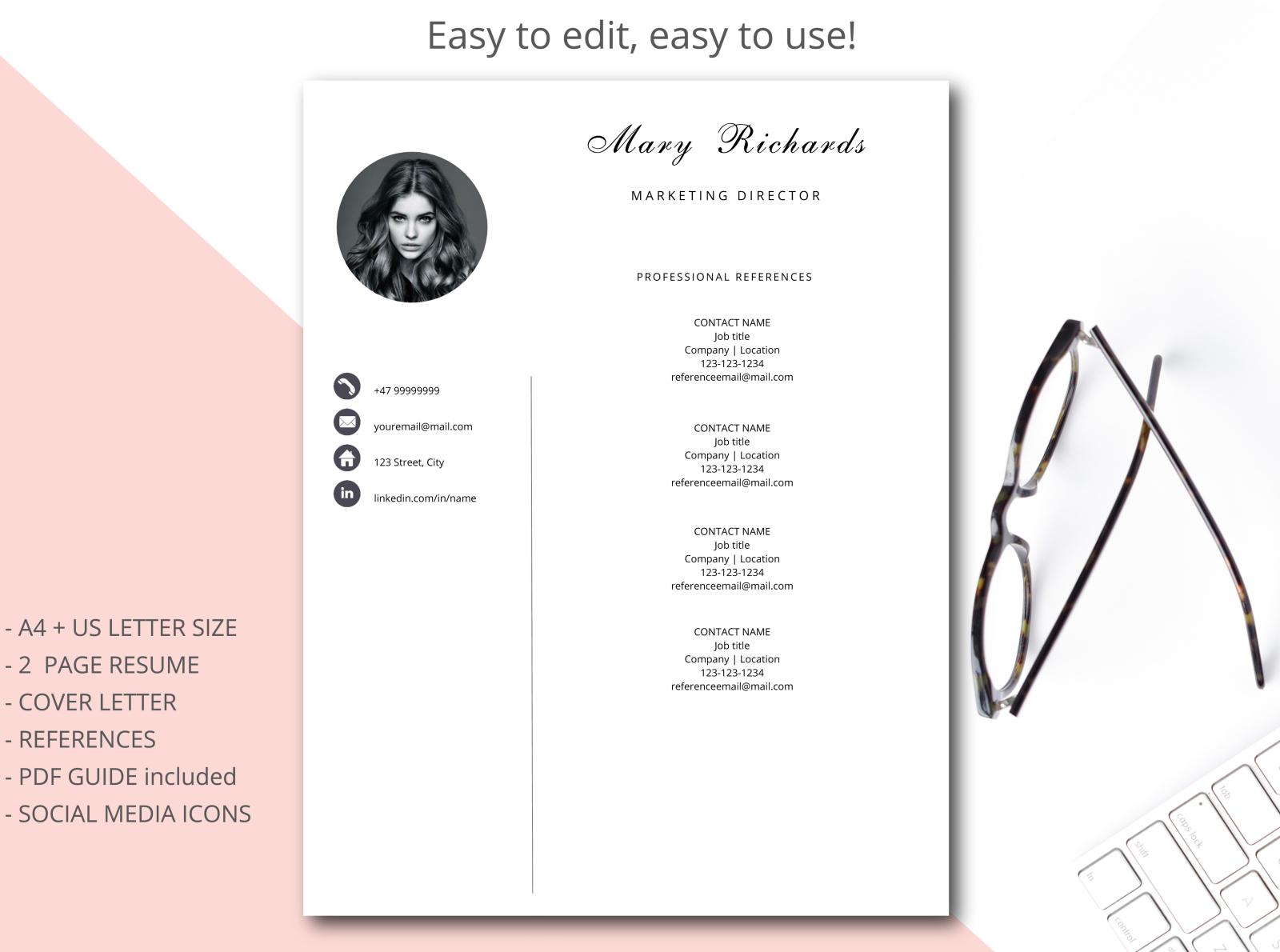 Resume Template Cv Template Simple Style By Resume Templates On