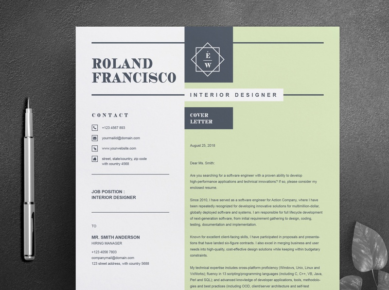 Two Page Resume / CV Template Cover Letter download mockup free download cv curriculum vitae template clean resume creative resume professional modern resume cv template modern resume resume template