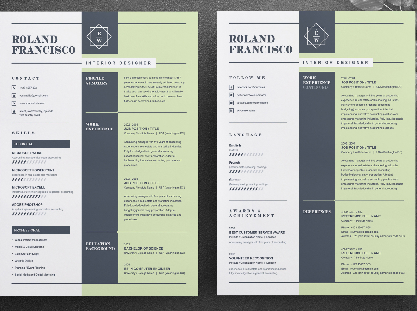 two page resume  cv template cover letterresume