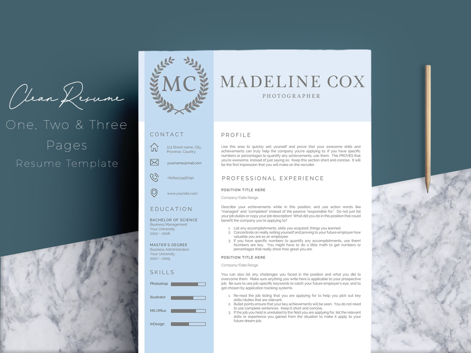 Resume Template Word 5 Pages By Resume Templates On Dribbble
