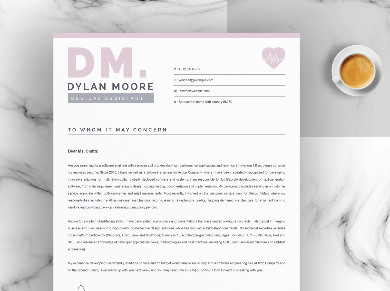 Resume Template Medical Assistant from cdn.dribbble.com