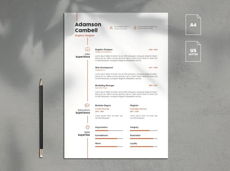 Minimalist Resume Template Vol. 9 free download templates resume cv minimalist curriculum vitae template clean resume creative resume professional modern resume cv template modern resume resume template