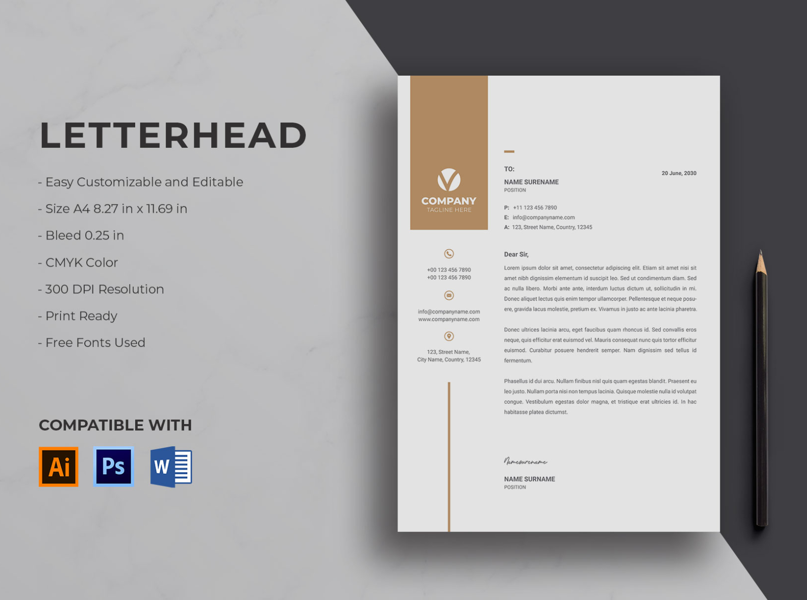 Letterhead By Resume Templates On Dribbble