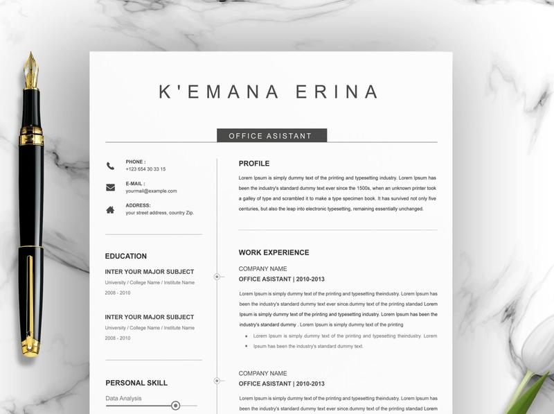 Resume Template | Modern & Professional Resume Template ux ui responsive multipurpose resume templates cover letter template clean resume creative resume professional cv template modern resume minimal resume simple resumes professional resume modern resume design resume template resume