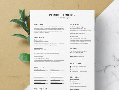 Word Resume/CV job brand design creative resume professional modern resume minimalistic minimalism cv templates cover letter cover template modern minimalist minimal cv design cv template cv resume design resume template resume