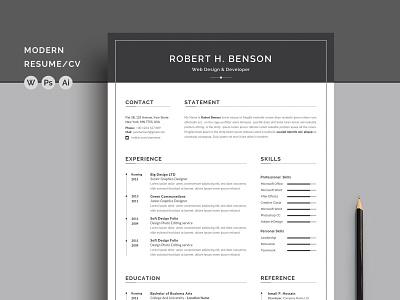 Word Resume/CV free download resume cv word curriculum vitae template clean resume creative resume professional modern resume cv template modern resume resume template