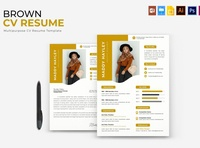 Brown | CV & Resume free download curriculum vitae template clean resume creative resume professional modern resume cv template modern resume resume template