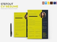 Stefout | CV & Resume curriculum vitae template clean resume creative resume professional modern resume cv template modern resume resume template