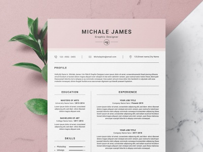 Word Resume/CV free download minimal resume curriculum vitae template clean resume creative resume professional modern resume cv template modern resume resume template