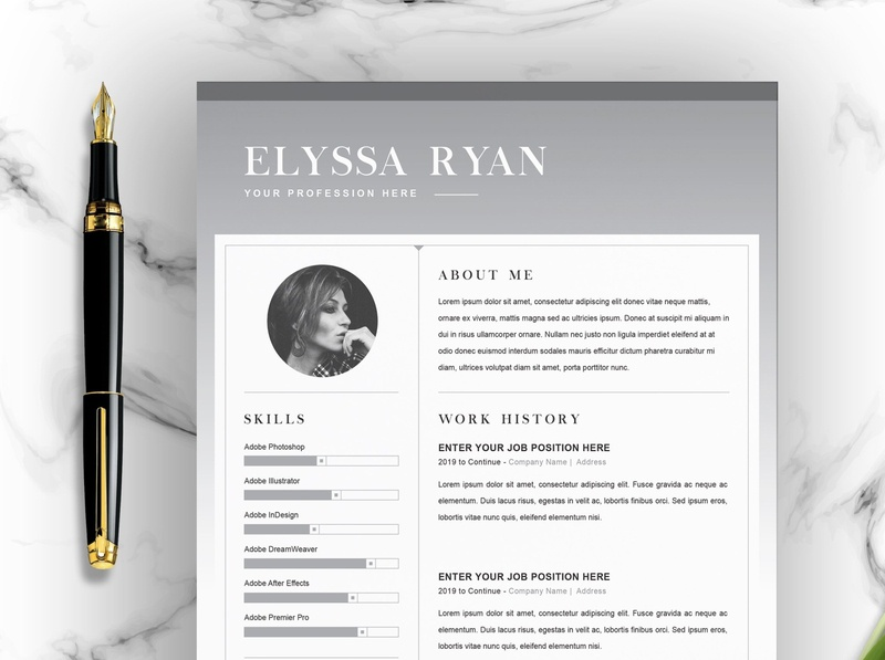 Creative Resume Template Downloads from static.dribbble.com