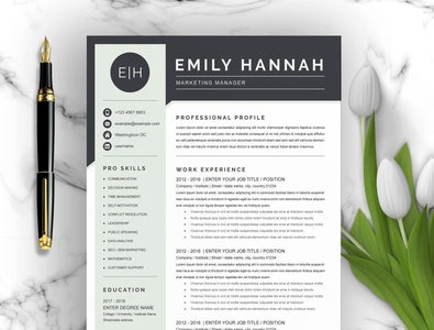 Marketing Manager Resume Template download resume cv marketing cv curriculum vitae template clean resume creative resume professional modern resume cv template modern resume resume template