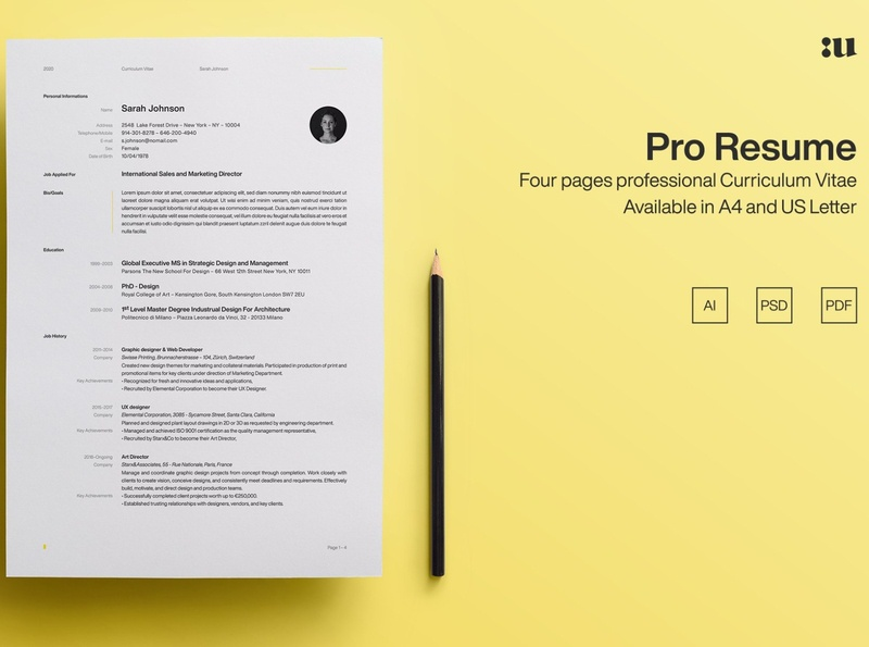 Pro Resume Template product free download profile curriculum vitae template clean resume creative resume professional modern resume cv template modern resume resume template