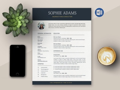 Easy-to-edit | 3page Resume Template free download minimal resume curriculum vitae template clean resume creative resume professional modern cv template modern resume resume template resume
