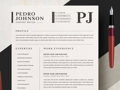 Clean Resume / CV Template with MS Word Cover Letter clean ui free download resume cv clean minimal resume curriculum vitae template clean resume creative resume professional modern resume cv template modern resume resume template
