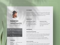 Resume/CV Word curriculum vitae template clean resume creative resume professional modern resume cv template modern resume resume template
