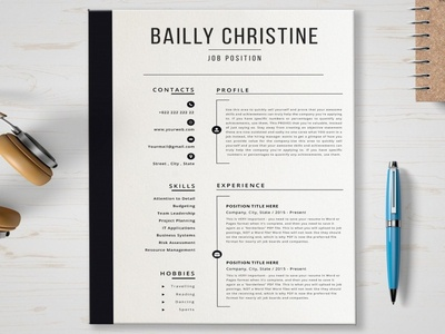 Resume Template free download resume cv cv curriculum vitae template clean resume creative resume professional modern resume cv template modern resume resume template