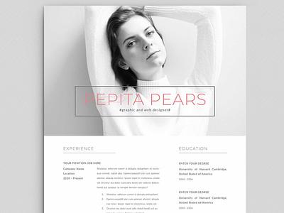 Resume / CV free download curriculum vitae template clean resume creative resume professional modern resume cv template modern resume resume template