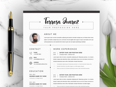 Professional Clean Resume / CV Template with MS Word free download curriculum vitae template clean resume creative resume professional modern resume cv template modern resume resume template