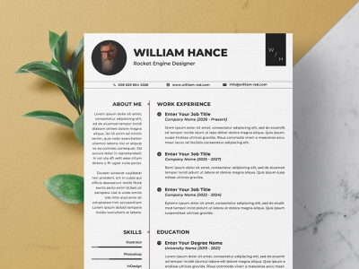 Resume/CV Word download mockup free download curriculum vitae template clean resume creative resume professional modern resume cv template modern resume resume template