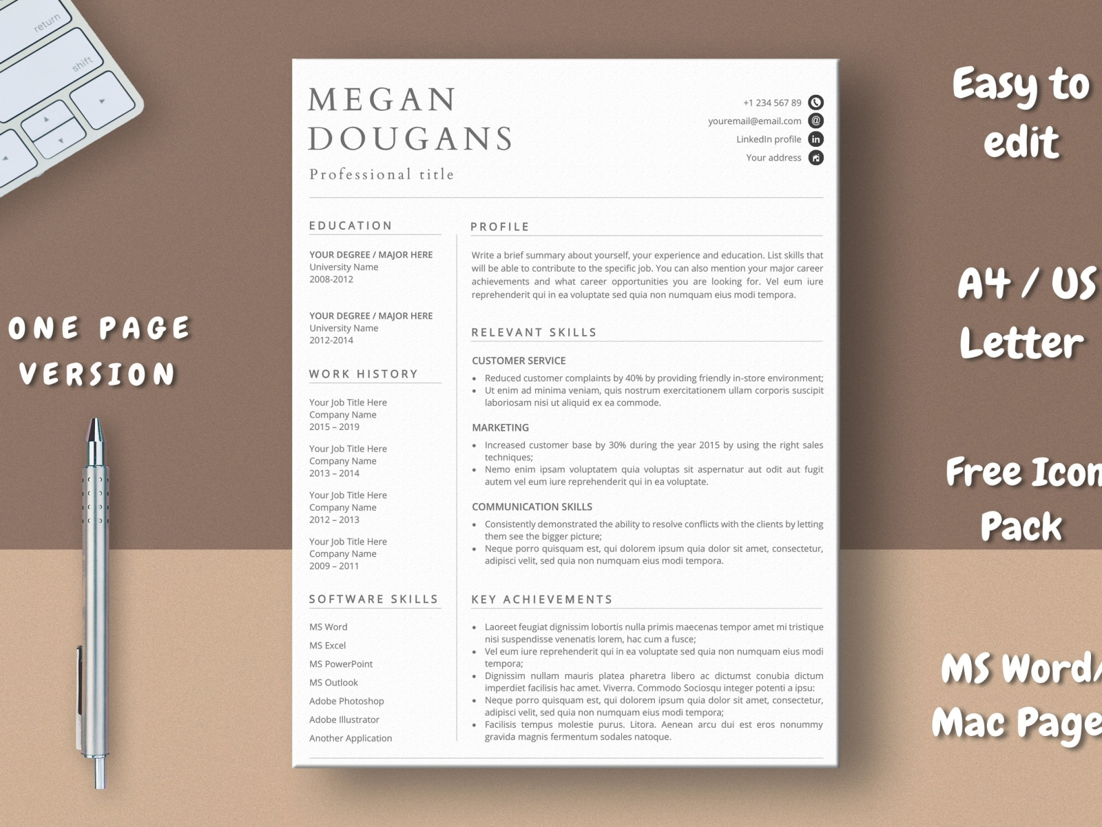 Skill Based Resume Template Free Download from cdn.dribbble.com