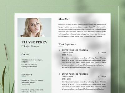Resume/CV Word free download resume cv curriculum vitae template clean resume creative resume professional modern resume cv template modern resume resume template
