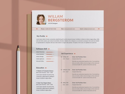 Resume/CV Word free download curriculum vitae template clean resume creative resume professional modern resume cv template modern resume resume template