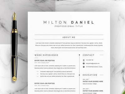 Professional Word Resume CV Template download mockup word professional resume free download cv curriculum vitae template clean resume creative resume professional modern resume cv template modern resume resume template