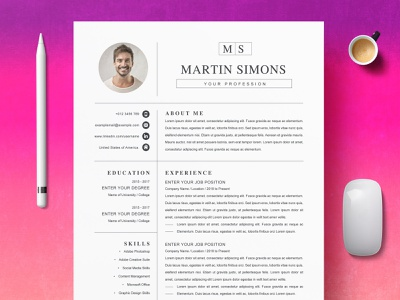 Word Resume Template | Professional free download professional resume curriculum vitae template clean resume creative resume professional modern resume cv template modern resume resume template