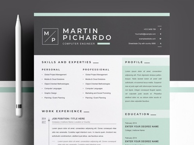 Modern Resume Template for Word, Apple Pages modern design pages apple templates resume cv free download cv curriculum vitae template clean resume creative resume professional modern resume cv template modern resume resume template