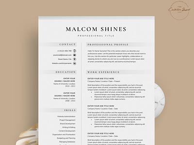 Resume/CV - The Shines download mockup resume clean resume design resume cv free download curriculum vitae template clean resume creative resume professional modern resume cv template modern resume resume template