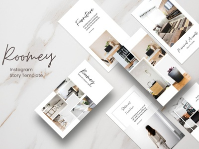 Instagram Story Template - Roomey instagram story template instagram stories pack instagram stories story templatedesign instagram story template design stroy templates curriculum vitae template clean resume creative resume professional modern resume cv template modern resume resume template