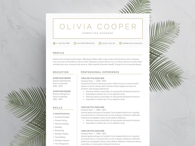 word resume  u0026 cover letter template by resume templates on