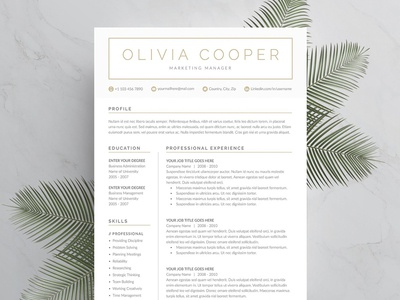 Word Resume & Cover Letter Template cv template doc a4 modern resume cv resume template