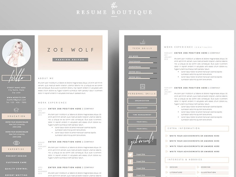 resume template 5pages dolce vita by resume templates dribbble