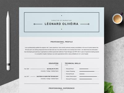 Clean Resume Template | Simple CV doc a4 modern resume cv template cv resume template