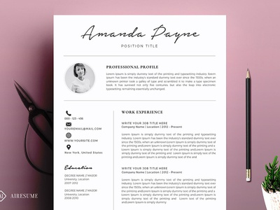 Minimal Resume/CV Template + Bonus template job resume modern cv clean resume creative resume professional resume modern resume cv template minimal resume cv resume template resume