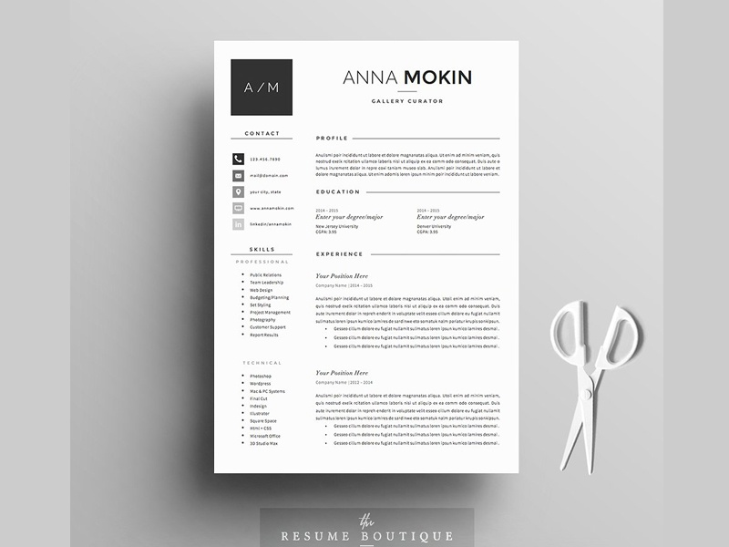 Resume Template 5 Page Pack Smoke By Resume Templates Dribbble