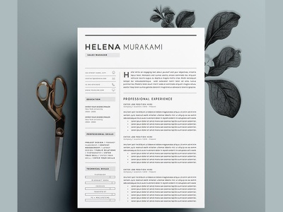 Resume Template 4 pages | Simplifier design template cover letter blogger word template us letter modern cv minimal resume minimal professional resume curriculum vitae clean resume professional creative resume modern resume cv template modern resume cv resume template