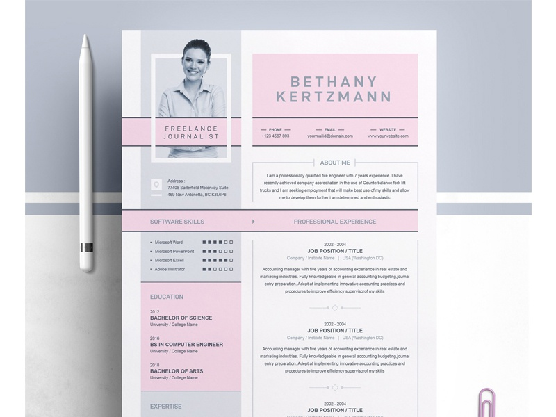 Cool Creative Cv Resume Design By Resume Templates On Dribbble