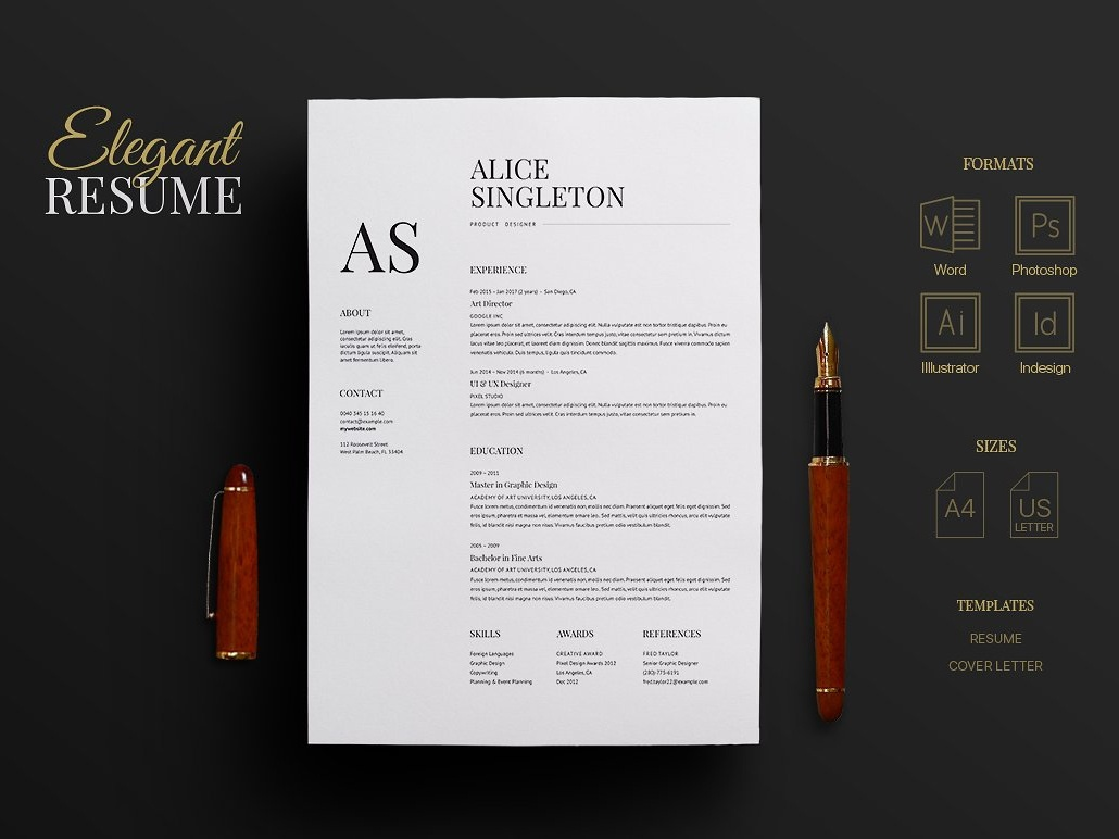 elegant resume by resume templates
