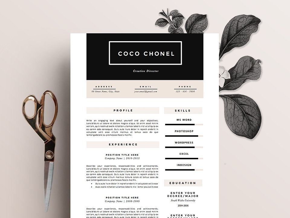 Resume Template 5 Pages High End By Resume Templates Dribbble