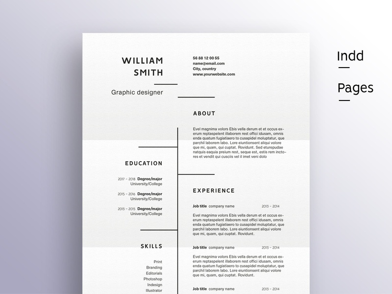 The minimalist professional resume minimal resume clean resume doc template curriculum vitae a4 professional modern creative resume resume cv template modern resume resume template cv