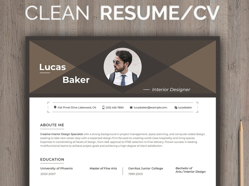 Editable Resume For Interior Designe By Resume Templates On
