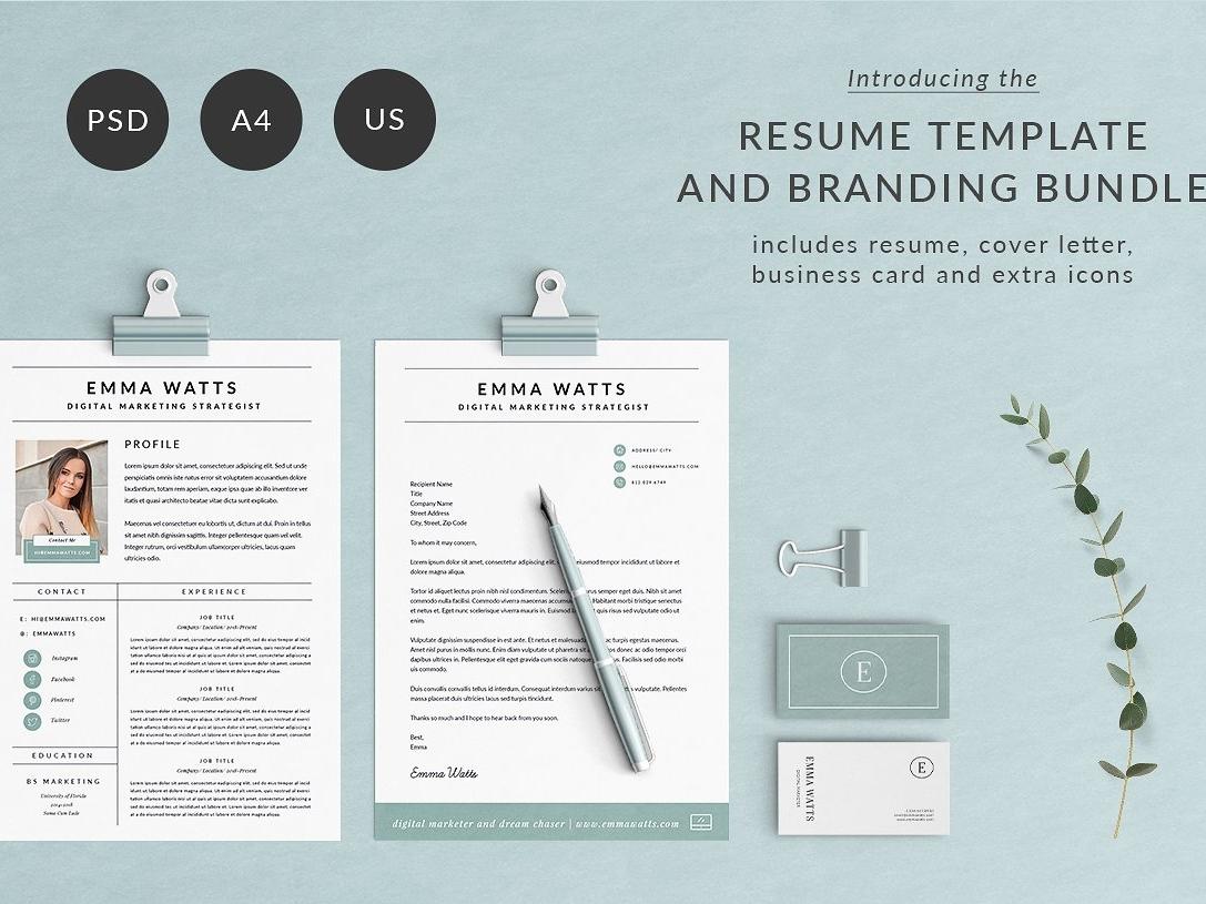db21c36cd Resume Template   Branding Bundle word template design minimal professional  resume minimal resume clean resume doc